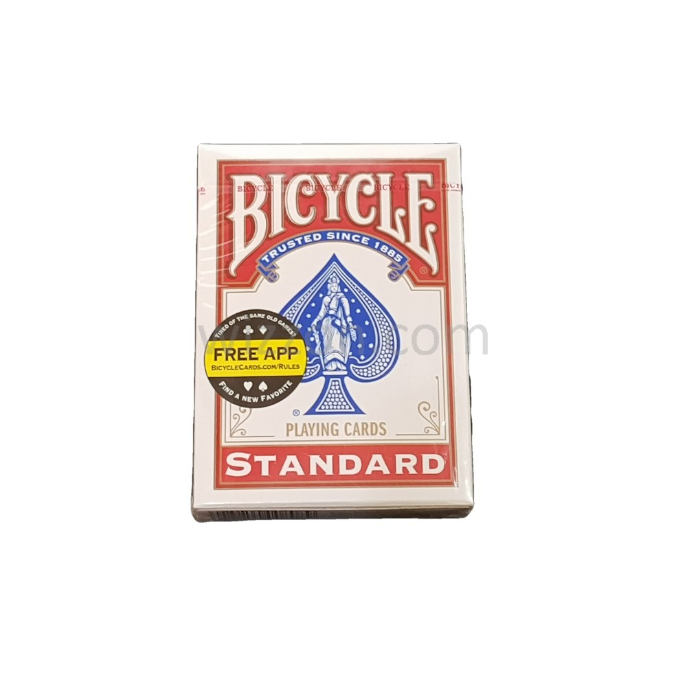 Bicycle Poker Size Standard Index Playing Cards Red