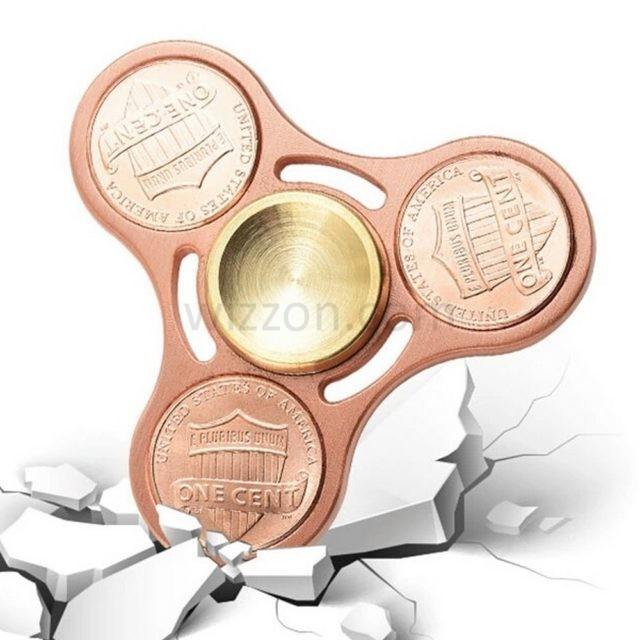 Heavy duty copper coin tri-spinner