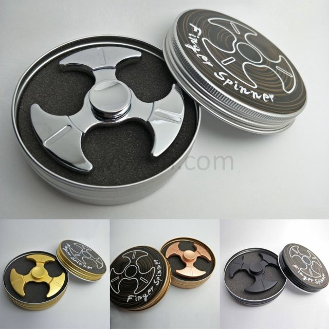 Metal axes wing tri-spinners