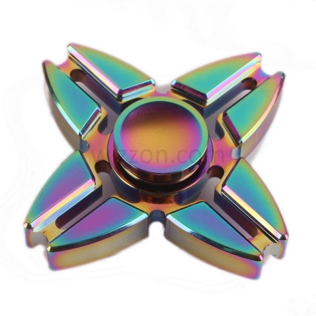 Three and four sided zinc alloy ninja star spinners