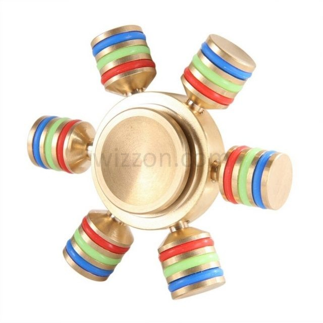 Six wing metal spinners