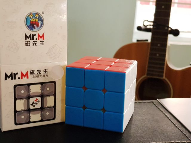Shengshou's painted cubes: GEM and Mr.M magnetic 3x3x3 cube