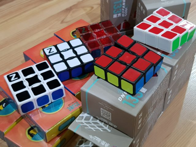 Some of our 1x3x3 cubes